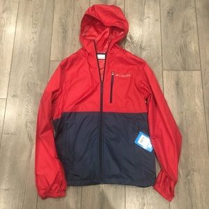 Columbia Morning View Packable Jacket, red & navy